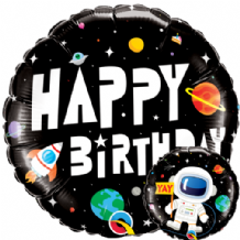"Birthday Astronaut Foil Balloon (18"") 1pc"